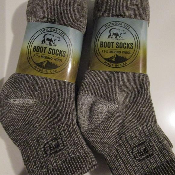 65cb4612f25f7 Outdoor Life Underwear & Socks   6 Pair Merino Wool Ankle Boot Sock ...